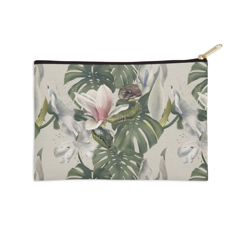 Three snakes and flowers Accessories Zip Pouch by KreativkDesigns Artist shop