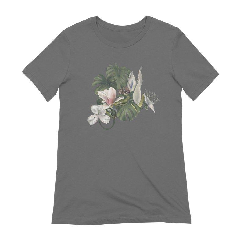 Three snakes and flowers Women's T-Shirt by Kreativkollektiv designs