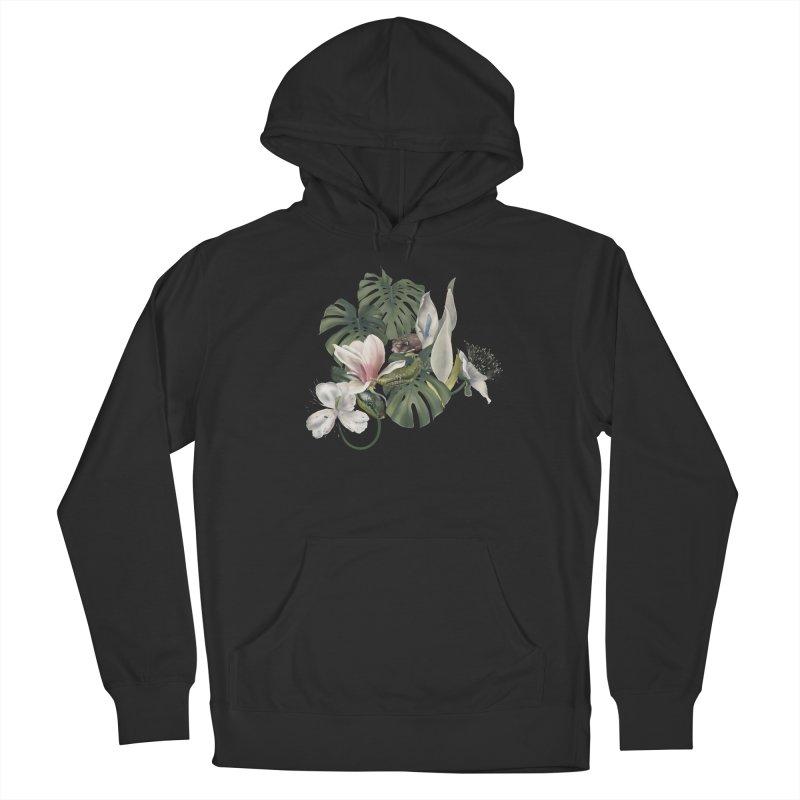 Three snakes and flowers Men's Pullover Hoody by Kreativkollektiv designs