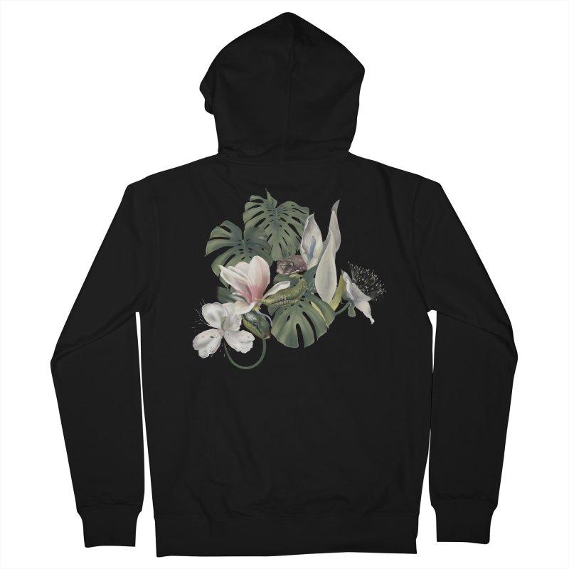 Three snakes and flowers Women's Zip-Up Hoody by Kreativkollektiv designs