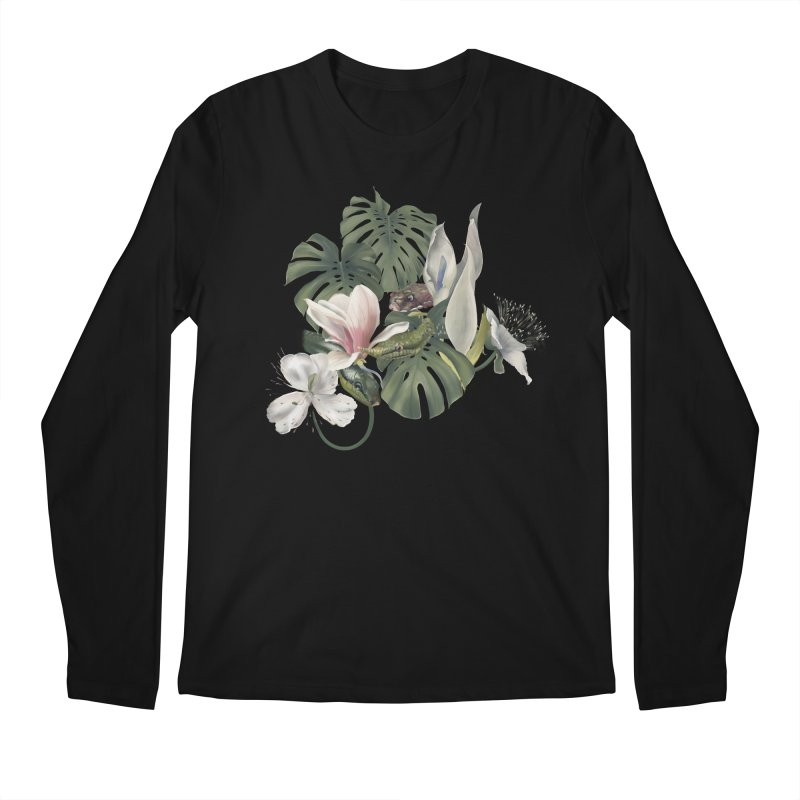 Three snakes and flowers Men's Longsleeve T-Shirt by KreativkDesigns Artist shop
