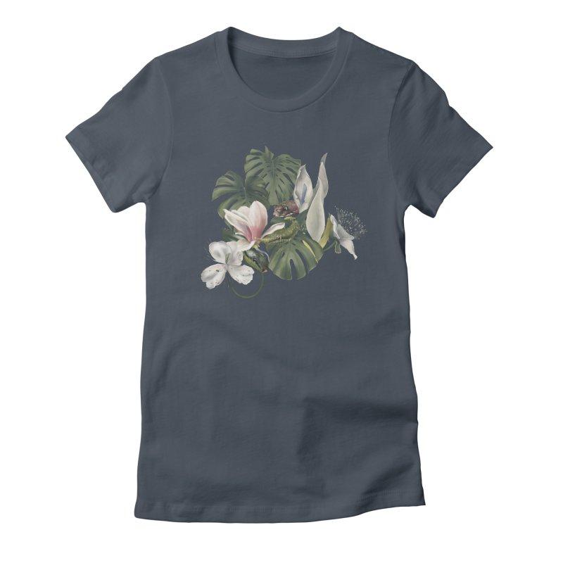 Three snakes and flowers Women's T-Shirt by KreativkDesigns Artist shop