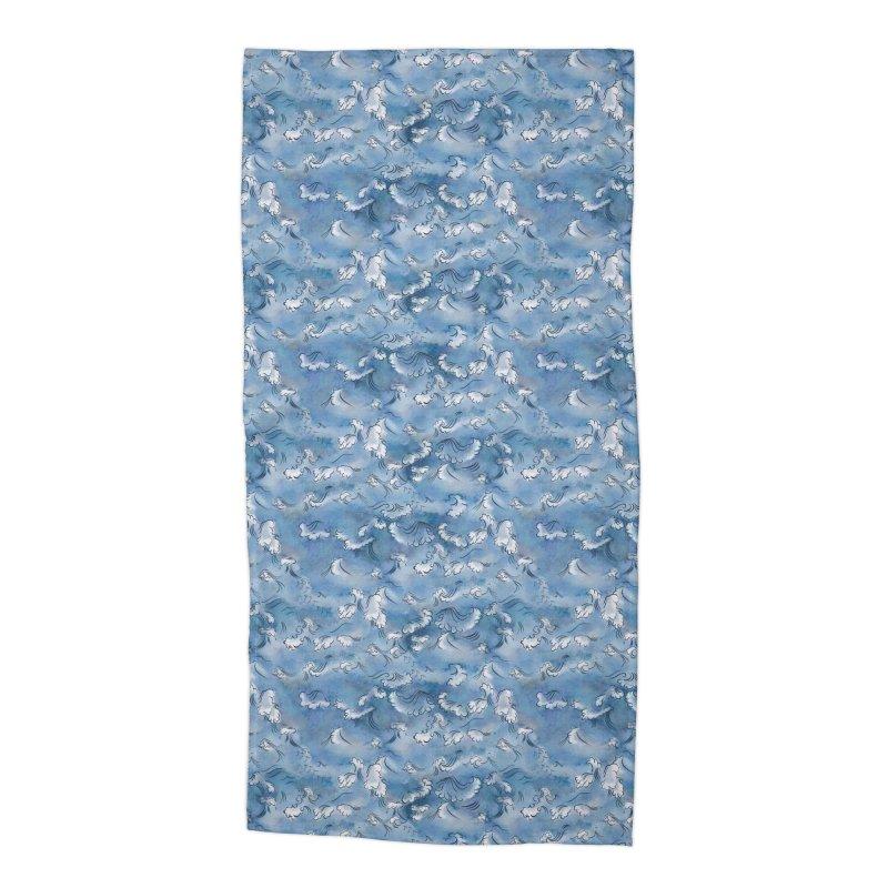 Stormy sea Accessories Beach Towel by Kreativkollektiv designs
