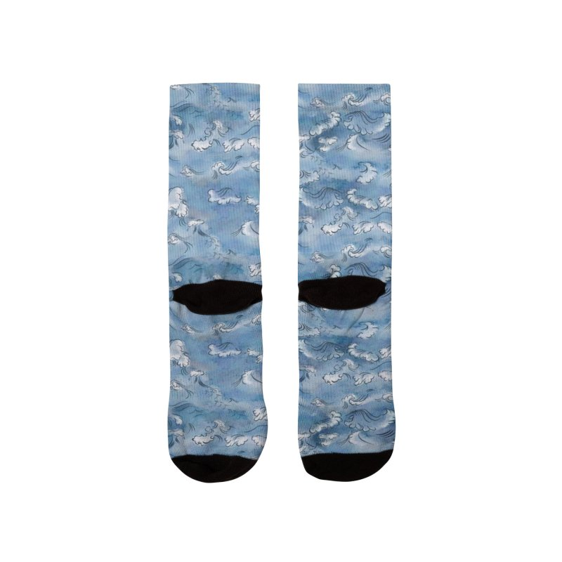 Stormy sea Women's Socks by KreativkDesigns Artist shop