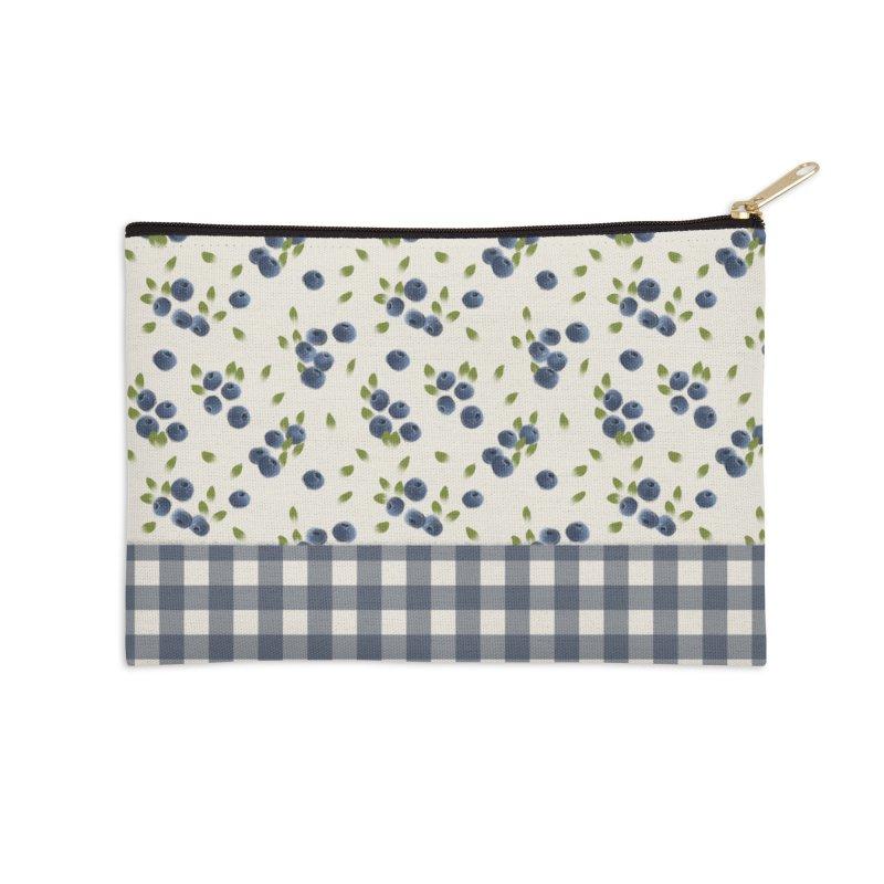 Blueberry by KreativKDesigns Accessories Zip Pouch by Kreativkollektiv designs
