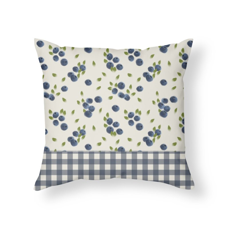 Blueberry by KreativKDesigns Home Throw Pillow by KreativkDesigns Artist shop