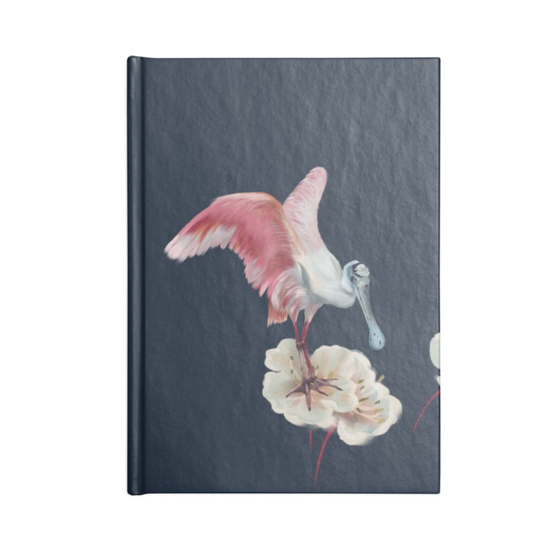 Gorgeous spoonbill Accessories Notebook by Kreativkollektiv designs