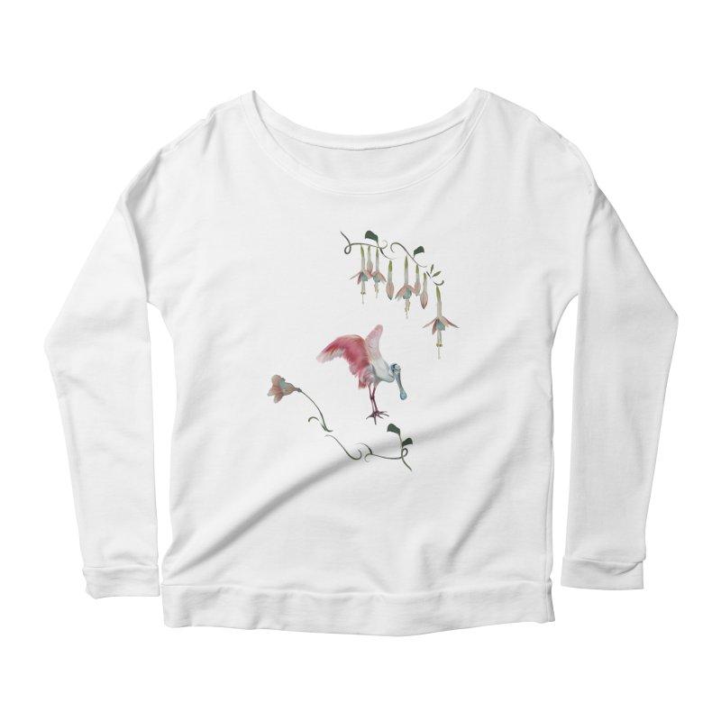 Gorgeous spoonbill Women's Longsleeve T-Shirt by KreativkDesigns Artist shop