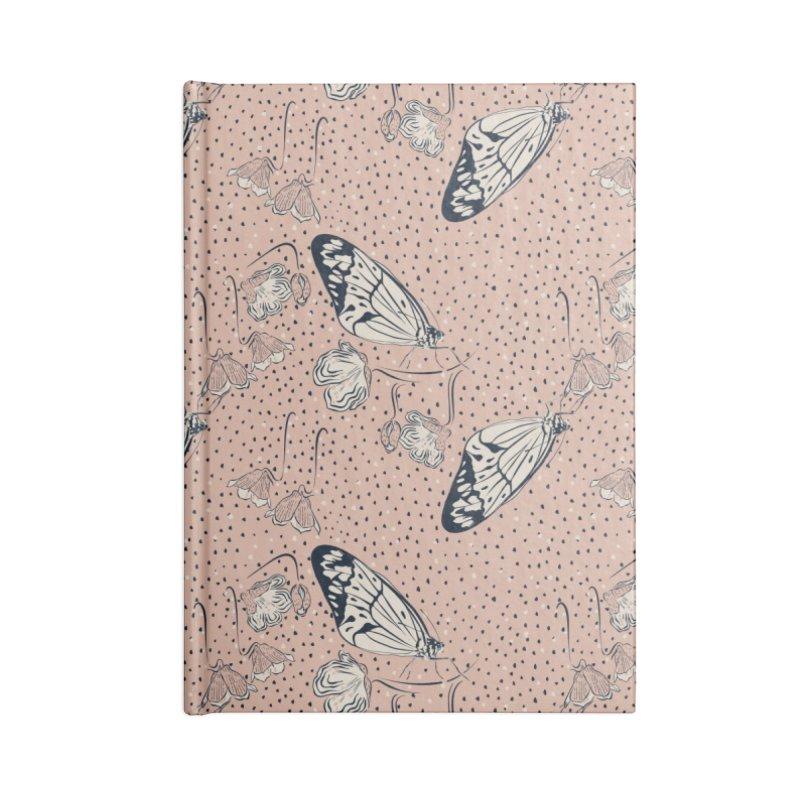 Butterflies and flowers Accessories Notebook by Kreativkollektiv designs
