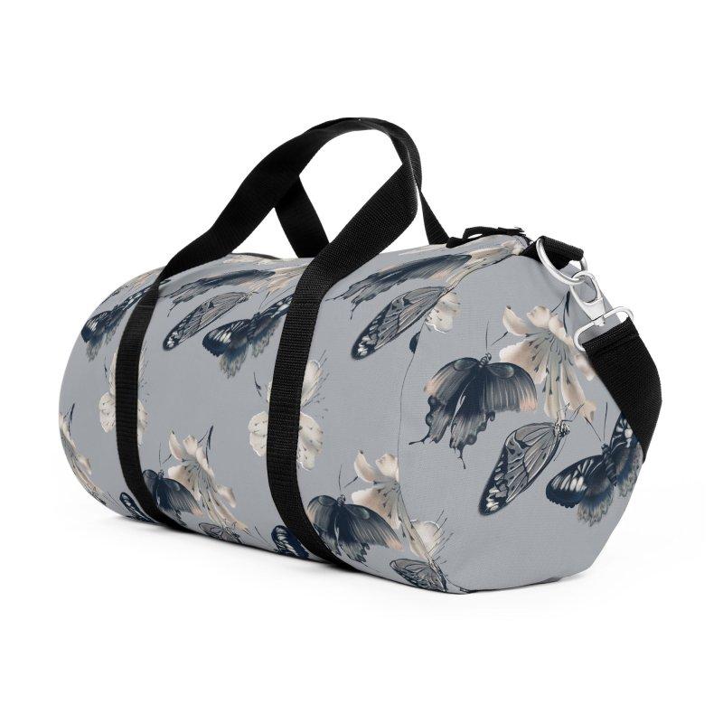 Beautiful butterflies and white flowers Accessories Bag by Kreativkollektiv designs