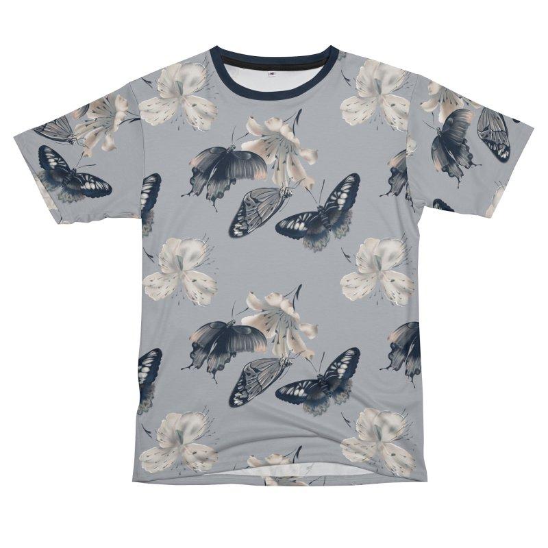 Beautiful butterflies and white flowers Men's Cut & Sew by KreativkDesigns Artist shop