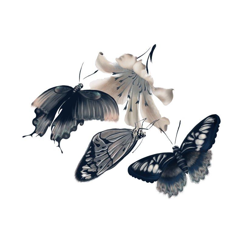 Beautiful butterflies and white flowers Women's Zip-Up Hoody by Kreativkollektiv designs