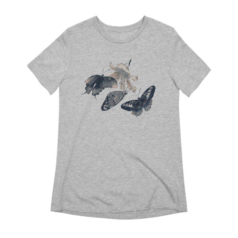 Beautiful butterflies and white flowers Women's T-Shirt by KreativkDesigns Artist shop