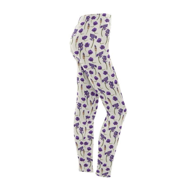 Purple flowers Women's Bottoms by KreativkDesigns Artist shop