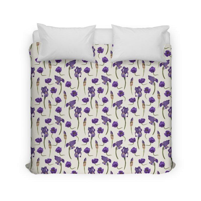 Purple flowers Home Duvet by KreativkDesigns Artist shop