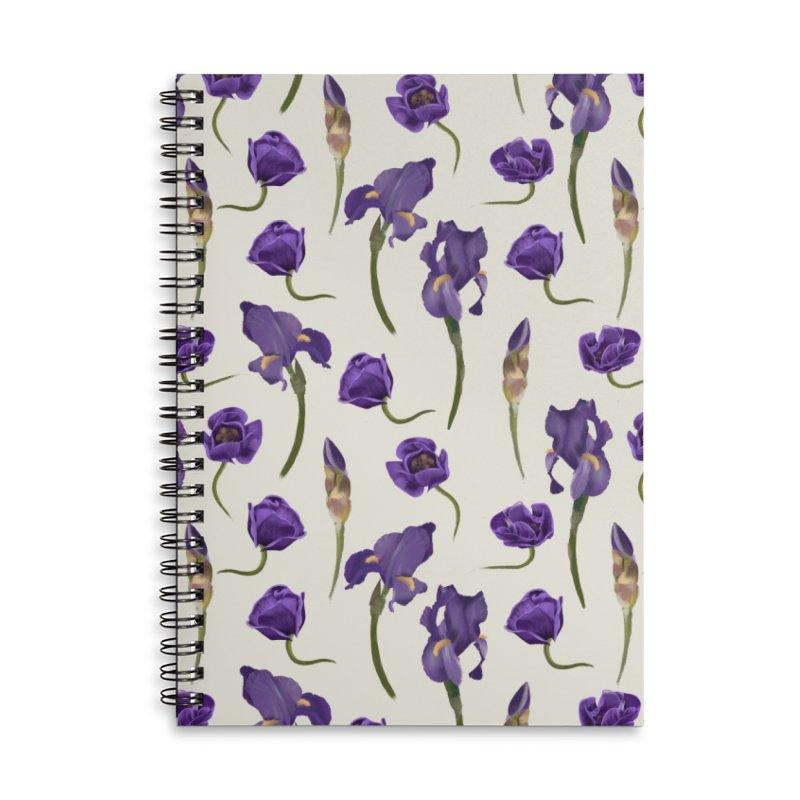 Purple flowers Accessories Notebook by KreativkDesigns Artist shop