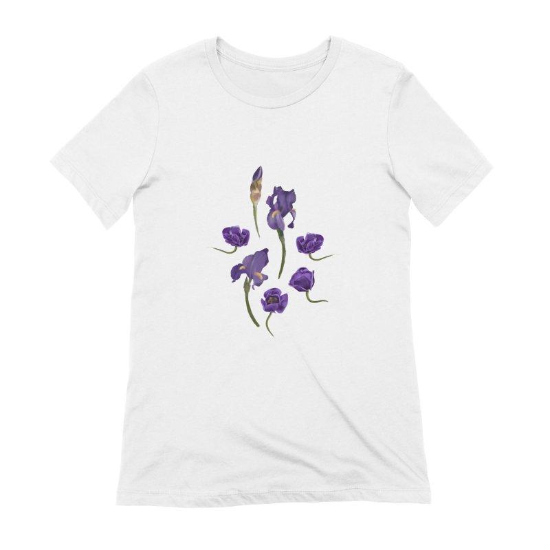 Purple flowers Women's T-Shirt by KreativkDesigns Artist shop