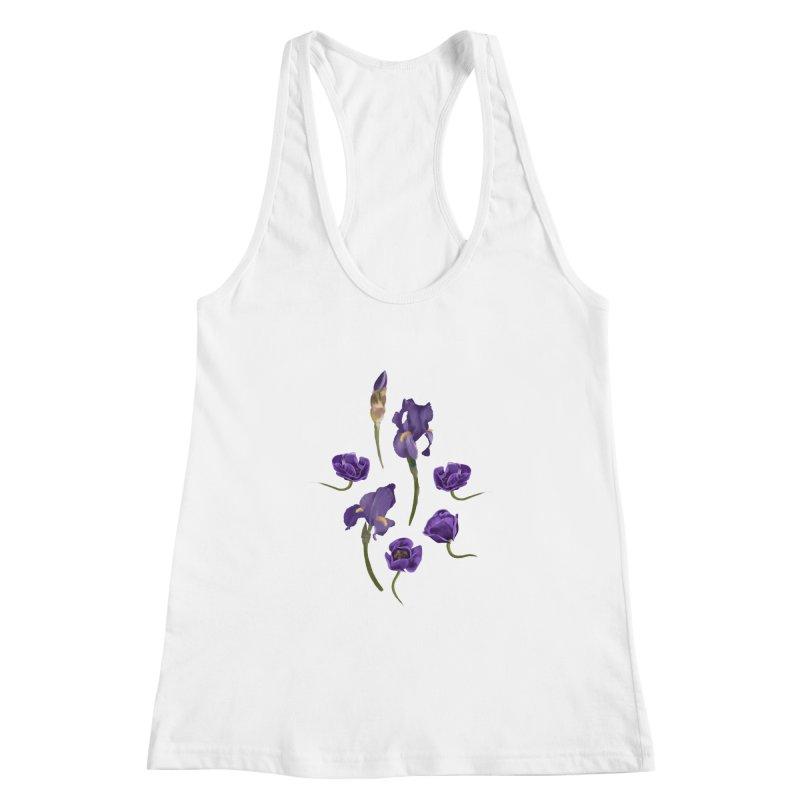 Purple flowers Women's Tank by KreativkDesigns Artist shop