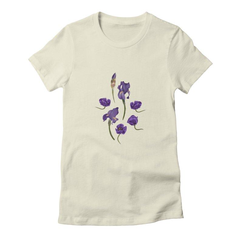Purple flowers Women's T-Shirt by Kreativkollektiv designs