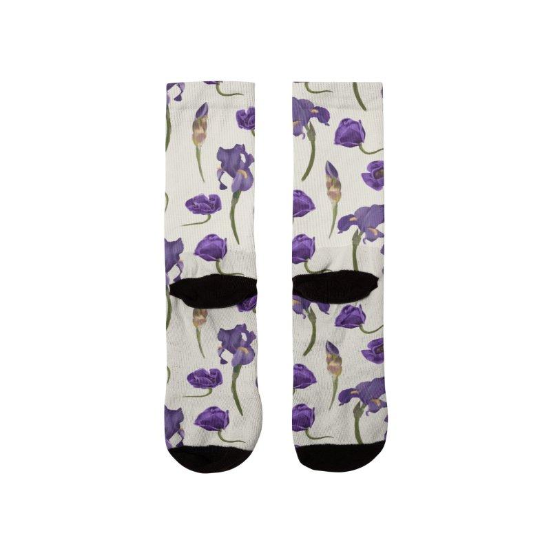 Purple flowers Women's Socks by KreativkDesigns Artist shop