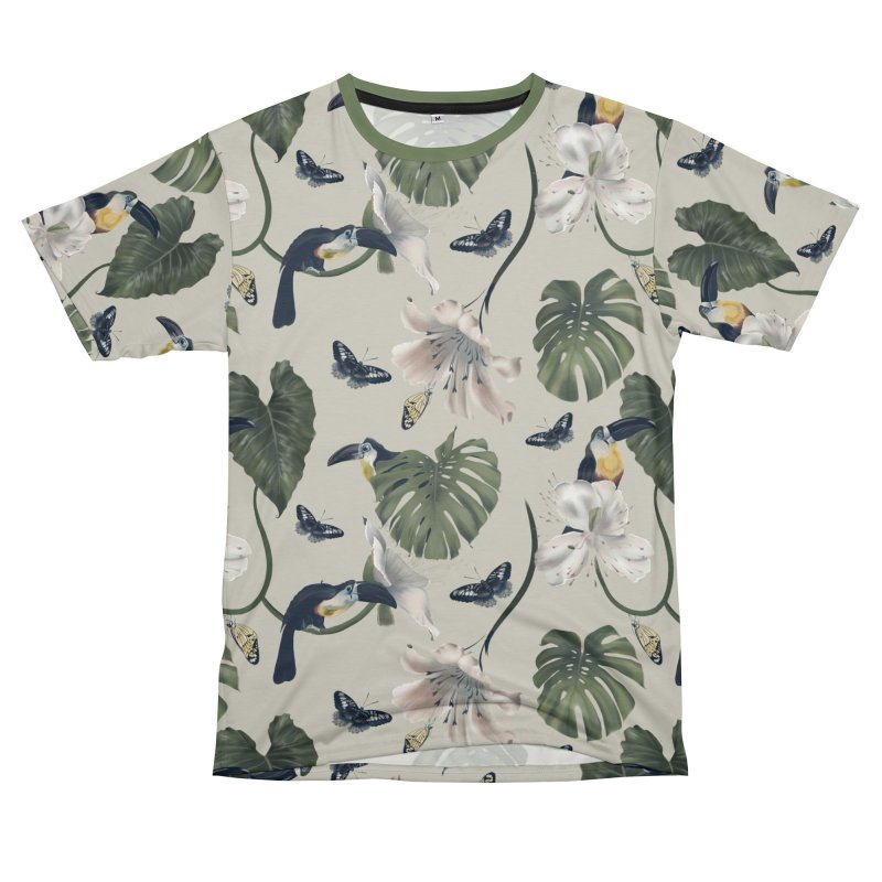 Three funny toucans and butterflies Women's Cut & Sew by KreativkDesigns Artist shop