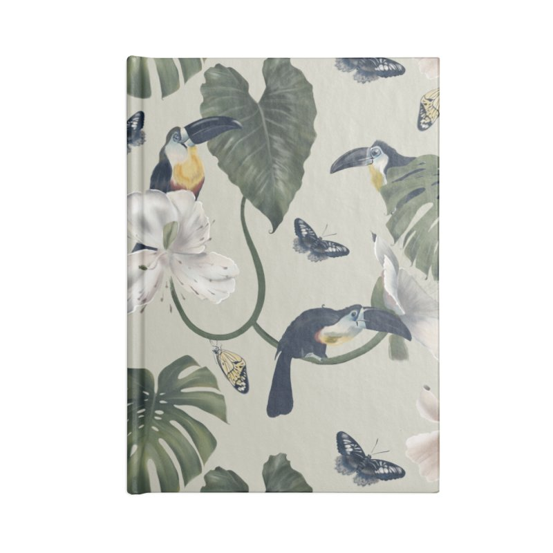 Three funny toucans and butterflies Accessories Notebook by KreativkDesigns Artist shop