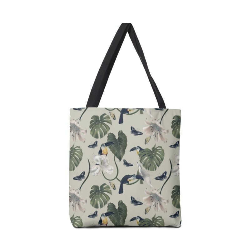 Three funny toucans and butterflies Accessories Bag by Kreativkollektiv designs