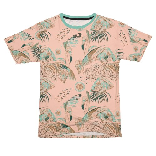 image for Tropical day with flamingos