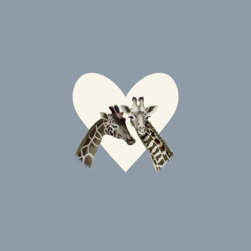 Two giraffes Women's V-Neck by KreativkDesigns Artist shop
