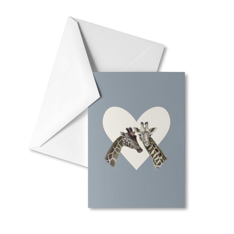 Two giraffes Accessories Greeting Card by KreativkDesigns Artist shop
