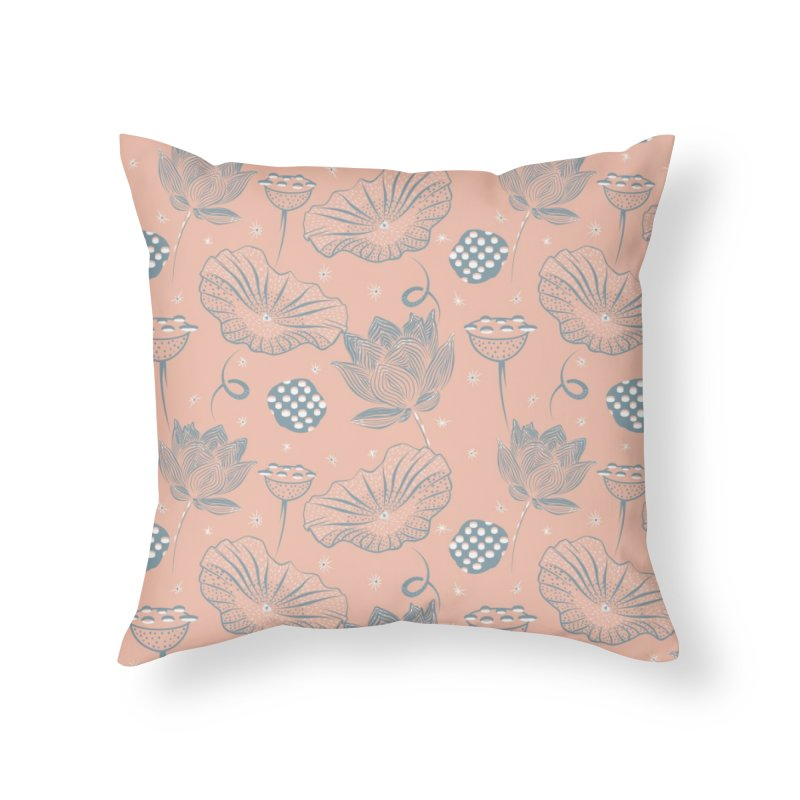 Beautiful lotus Home Throw Pillow by KreativkDesigns Artist shop