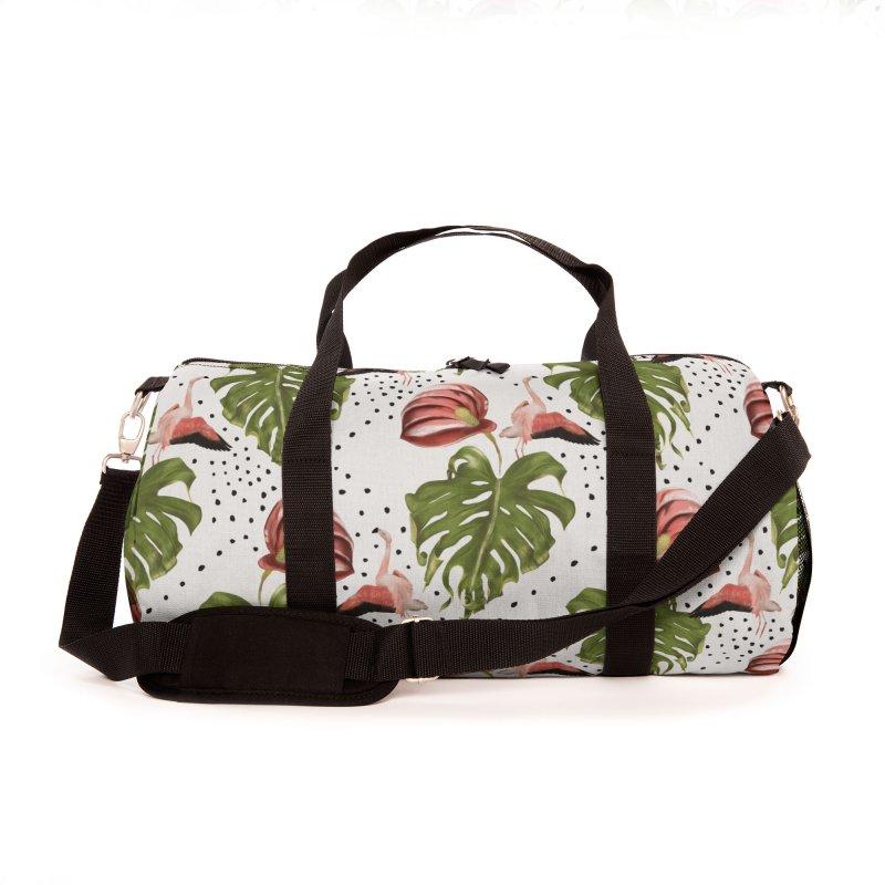 Spectacular leaf and red flower Accessories Bag by Kreativkollektiv designs