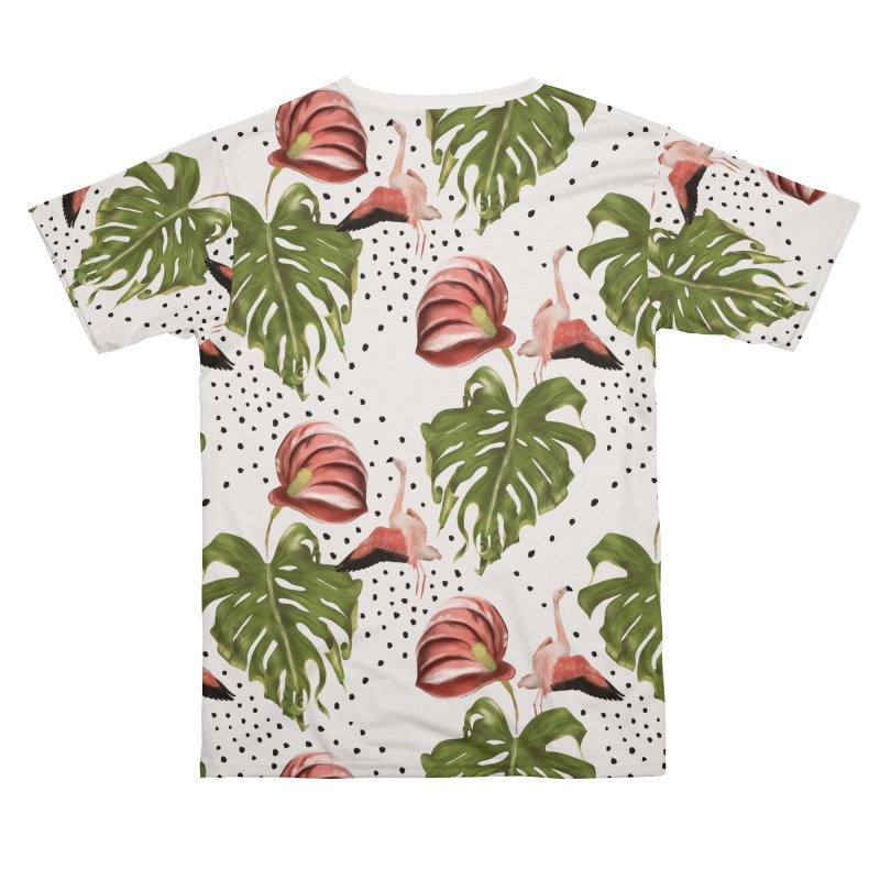 Spectacular leaf and red flower Men's Cut & Sew by KreativkDesigns Artist shop
