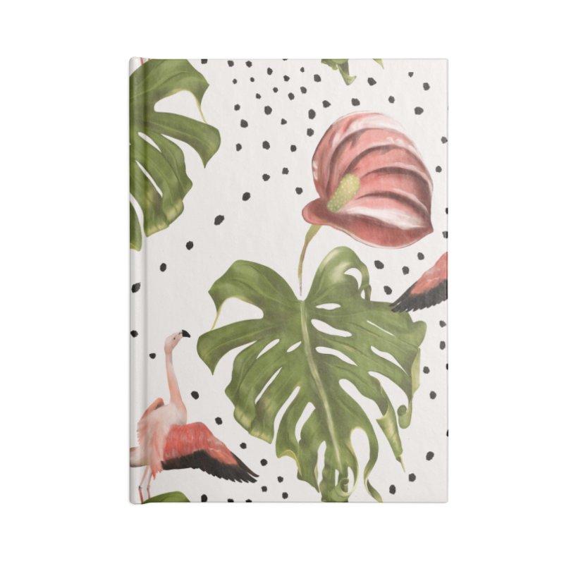 Spectacular leaf and red flower Accessories Notebook by Kreativkollektiv designs