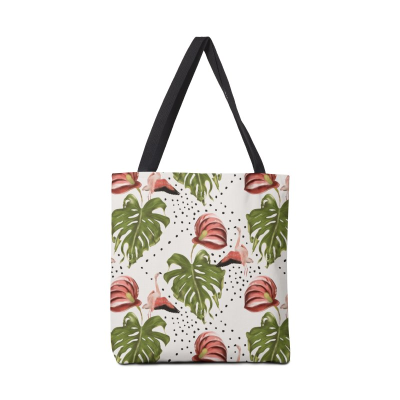 Spectacular leaf and red flower Accessories Bag by KreativkDesigns Artist shop