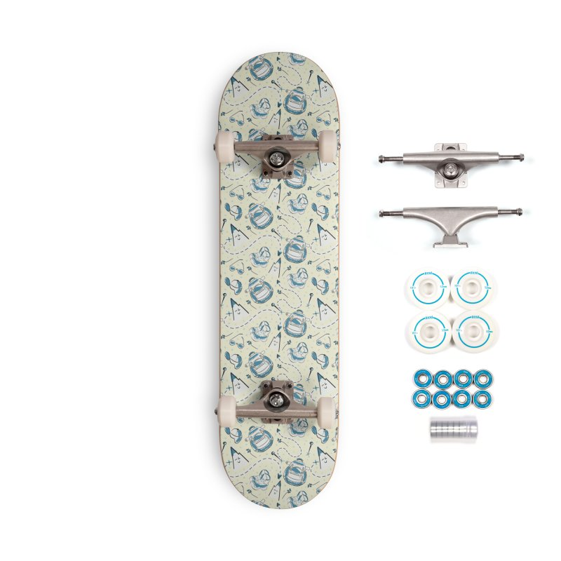 Cute hiking design Accessories Skateboard by KreativkDesigns Artist shop