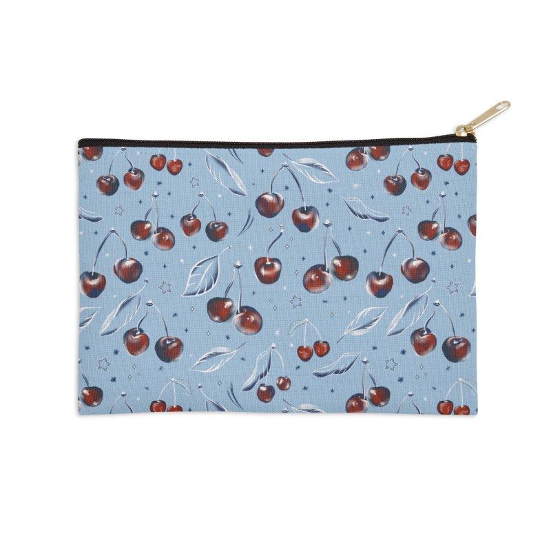 Cherry Accessories Zip Pouch by Kreativkollektiv designs