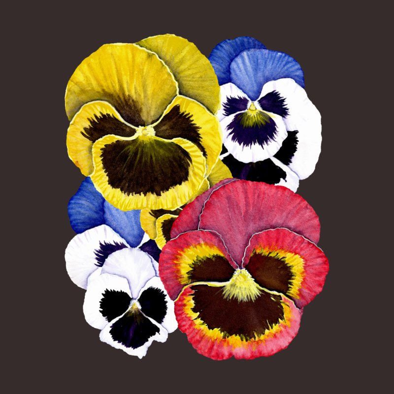Pansies Kids Baby T-Shirt by Kris Efe's Artist Shop