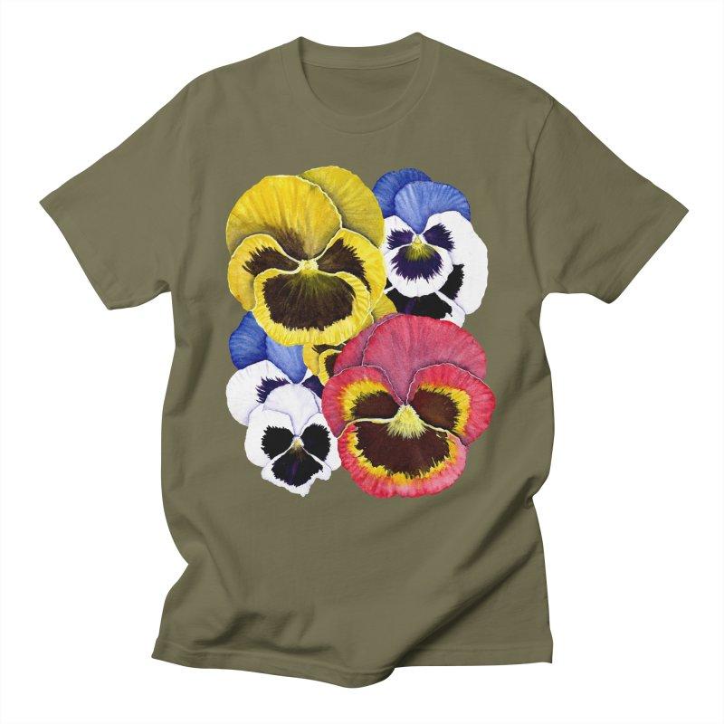Pansies Men's T-Shirt by Kris Efe's Artist Shop