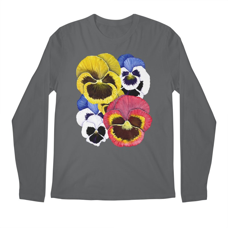 Pansies Men's Longsleeve T-Shirt by Kris Efe's Artist Shop