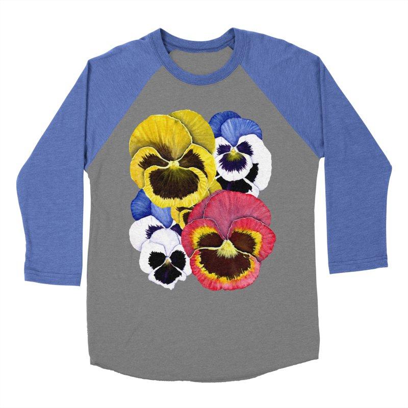 Pansies Women's Longsleeve T-Shirt by Kris Efe's Artist Shop