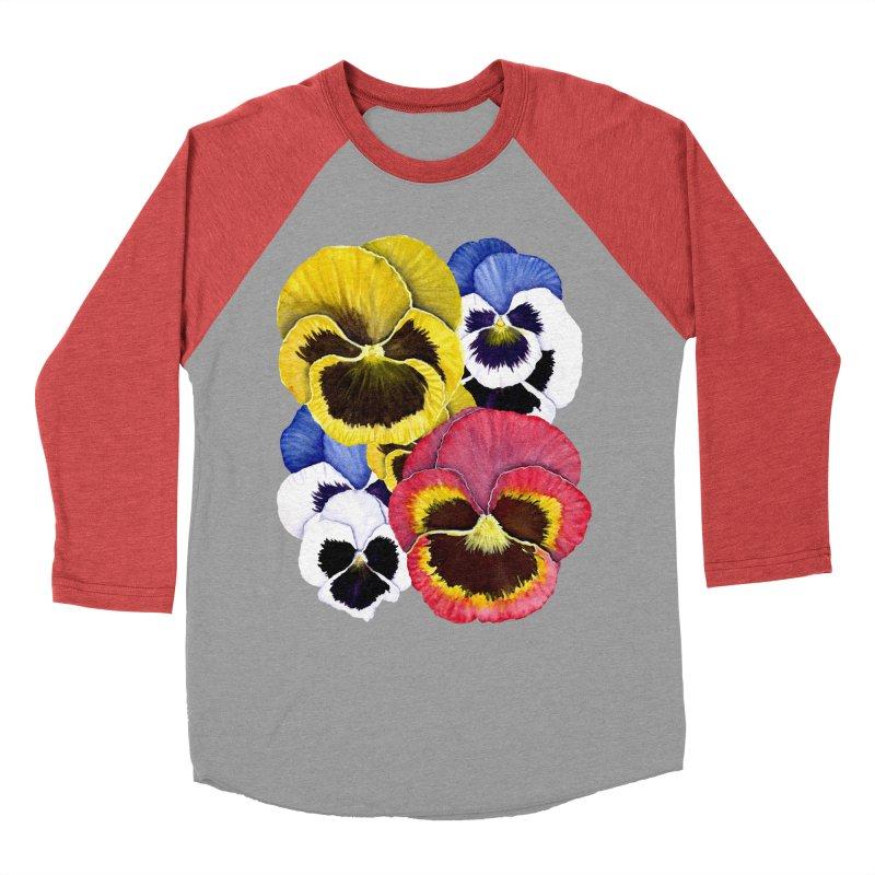 Pansies Men's Longsleeve T-Shirt by Kris Efe's Artist Shop