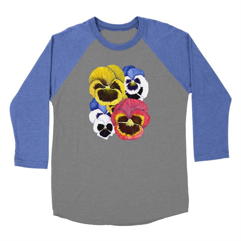 Pansies Women's Longsleeve T-Shirt by Kris Efe's Artist Shop