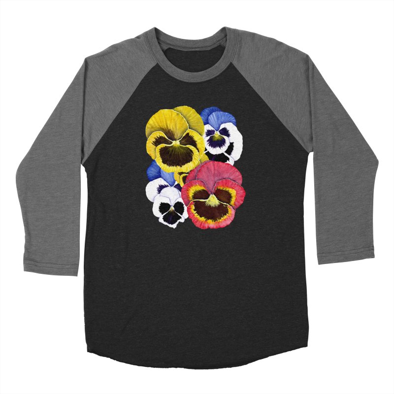 Pansies Men's Baseball Triblend Longsleeve T-Shirt by Kris Efe's Artist Shop