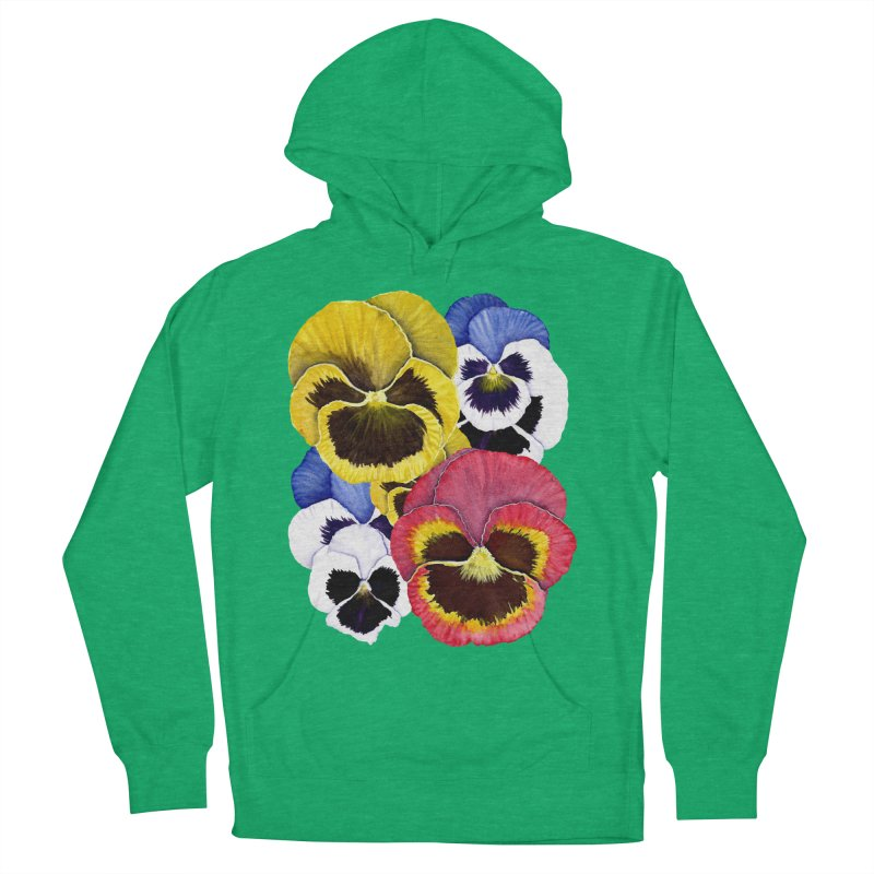 Pansies Women's Pullover Hoody by Kris Efe's Artist Shop