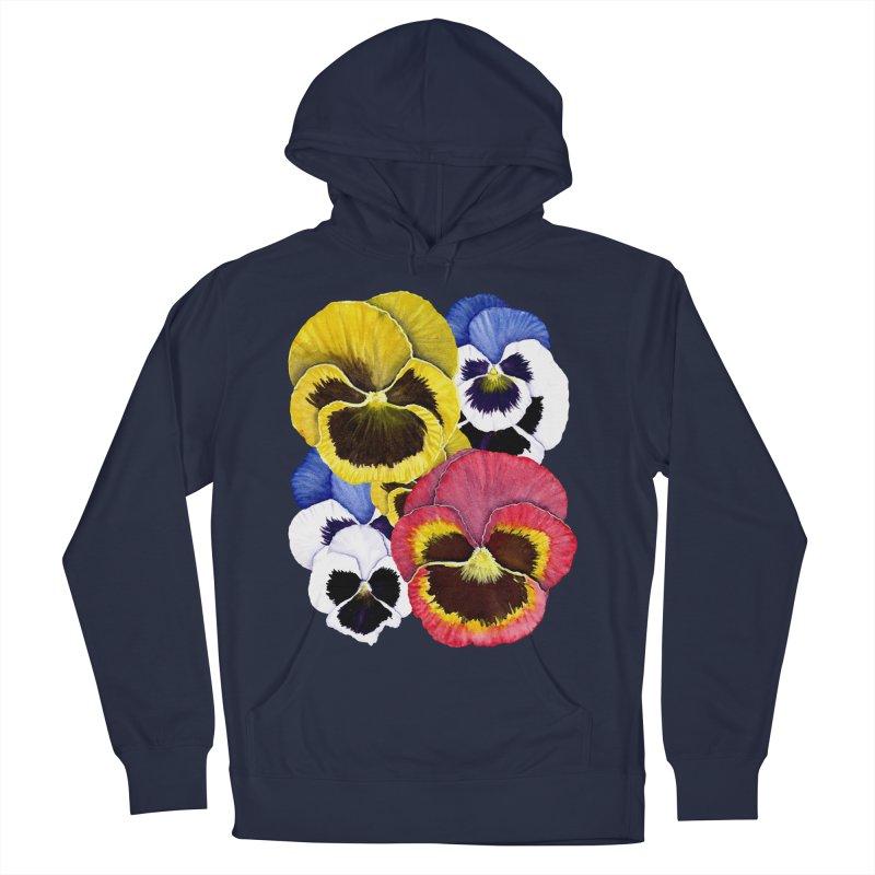Pansies Women's Pullover Hoody by Kris Efe's Artist Shop