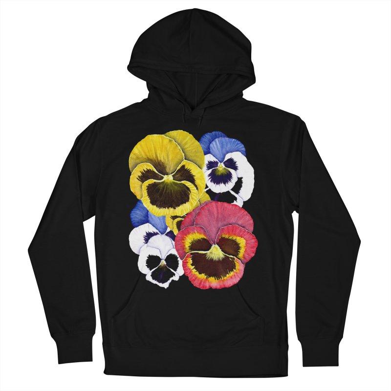Pansies Men's Pullover Hoody by Kris Efe's Artist Shop