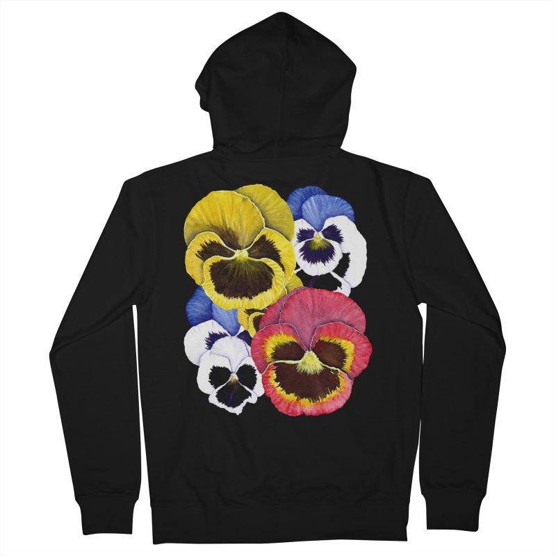 Pansies Women's Zip-Up Hoody by Kris Efe's Artist Shop