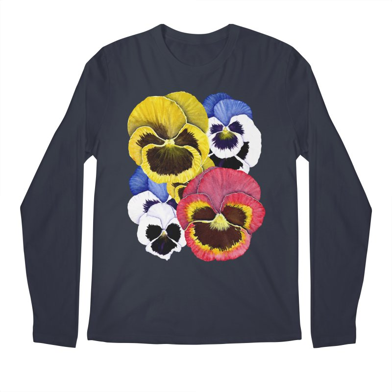 Pansies Men's Regular Longsleeve T-Shirt by Kris Efe's Artist Shop
