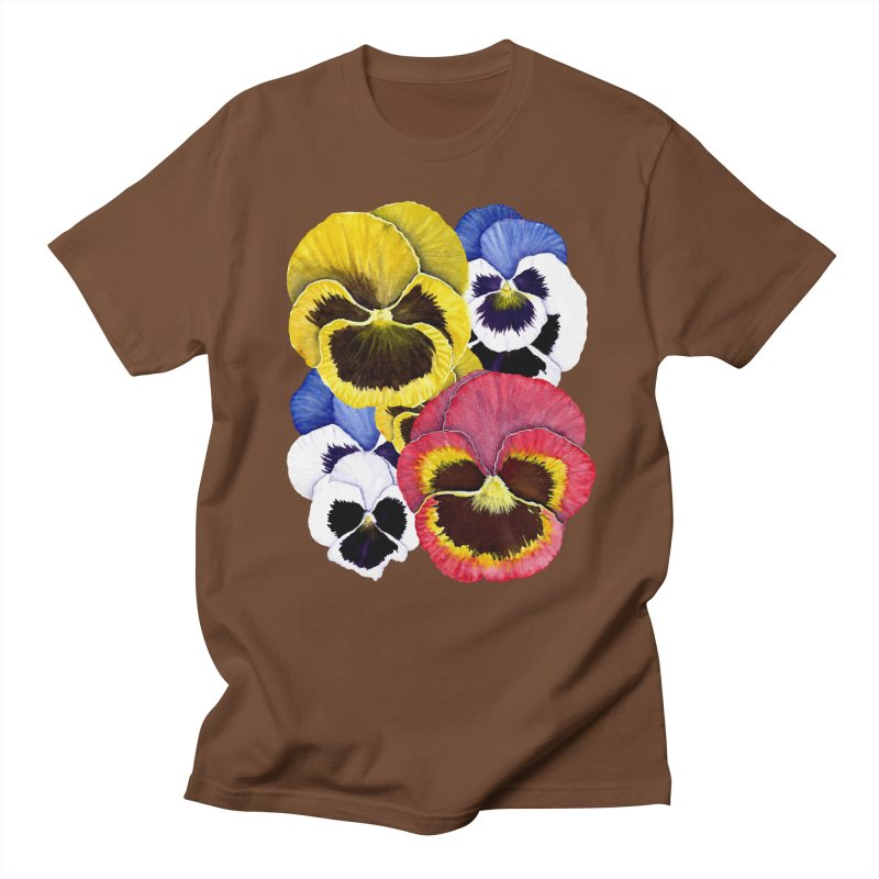 Pansies Women's Unisex T-Shirt by Kris Efe's Artist Shop